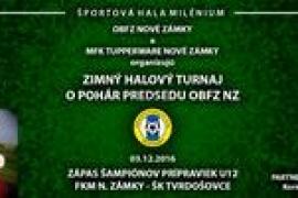 Propozície a vyžrebovanie zimného halového turnaja dospelých dňa 03.12.2016